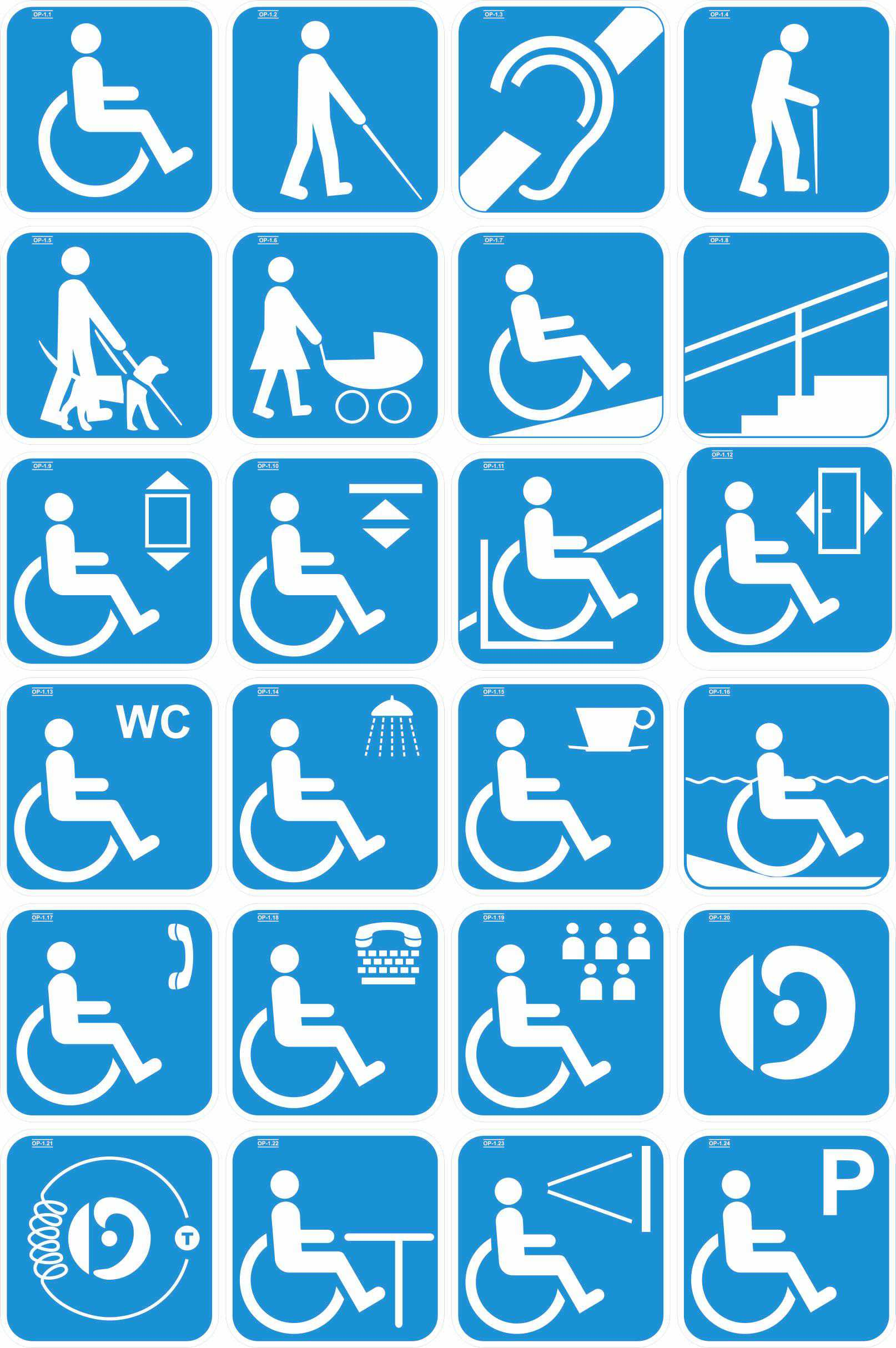 Accessibility signs (2)